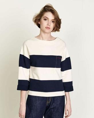 Bellerose Vasta Sweat Top - Size 2 (12) / Blue Stripe