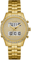 GUESS Women's Analog-Digital Gold-Tone Stainless Steel Bracelet Watch 38mm U0817L2, a Macy's Exclusive Style