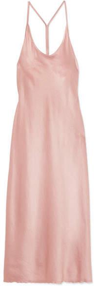 Alexander Wang Satin Midi Dress - Pink