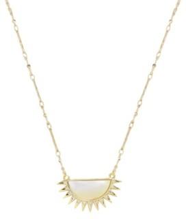 Ettika Sunset Reflection Mother Of Pearl Pendant Necklace