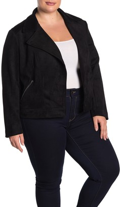 Philosophy di Lorenzo Serafini Faux Suede Zip Pocket Jacket (Plus Size)
