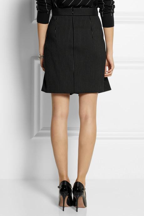 Stella McCartney Pinstriped wool-blend skirt