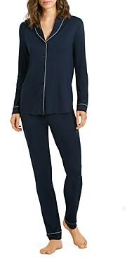 Hanro Natural Comfort Long Sleeve Pajama Set