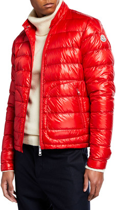 Moncler Men's Acorus Quilted Stretch Down Jacket