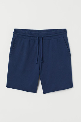 H&M Raw-edged sweatshirt shorts