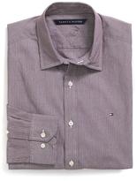 Tommy Hilfiger Custom Fit Stripe Stretch Poplin Shirt