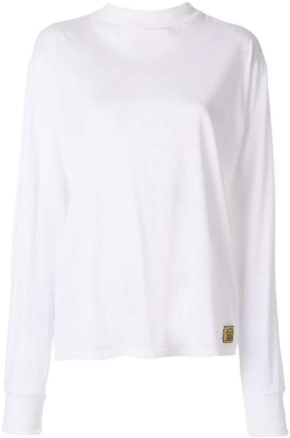 Aries laced back mock neck sweatshirt