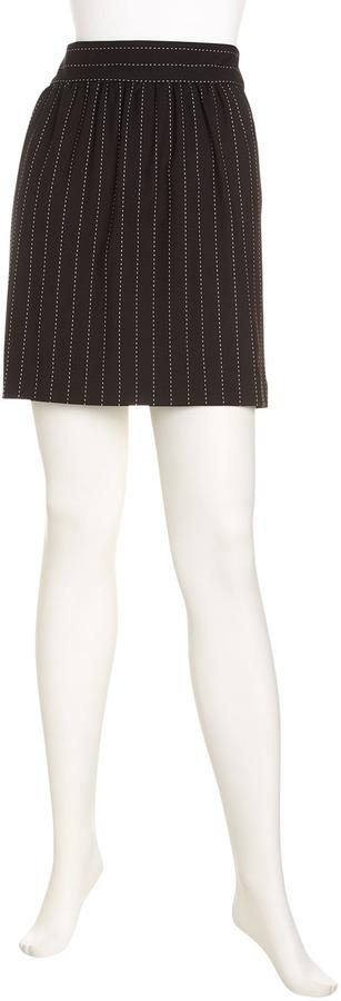 Alice + Olivia Elizabeth Striped Full Skirt