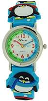 Ravel Boys-Kids 3D Penguin Time Teacher White Dial Blue Strap Watch R1513.72