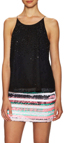 Milly Fly Away Silk Embellished Tank Top