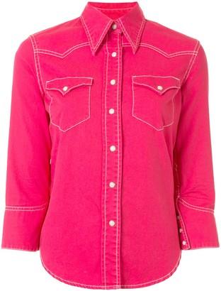 Denimist Three-Quarter Sleeves Denim Shirt