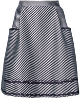 Carolina Herrera A line skirt with pocket and ruffled trim details - women - Polyamide/Polyester/viscose - 8