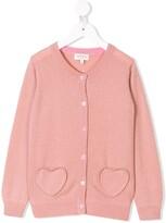 Cashmirino Cashmere heart motif cardigan