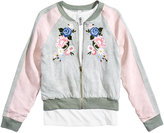Beautees 2-Pc. Bomber Jacket and Tank Top Set, Big Girls (7-16)