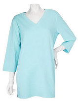 Denim & Co. As Is Essentials 3/4 Sleeve V-neck Knit Tunic