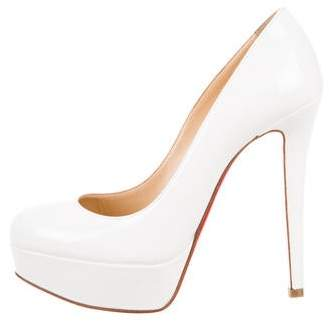 5a302ff99 Christian Louboutin White Pointed Toe Pumps - ShopStyle