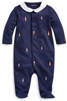 Ralph Lauren Childrenswear Boy's Toy Soldiers Nutcracker Embroidered Footed Coverall, Size 3-9 Months