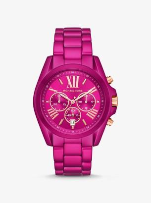 Michael Kors Oversized Bradshaw Pink Coated Watch