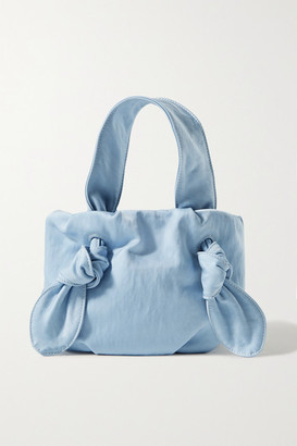 STAUD Ronnie Knotted Canvas Tote - Light blue
