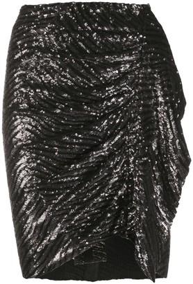 IRO Gathered Side Sequin Skirt
