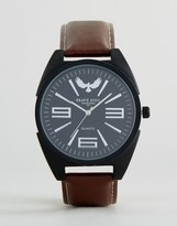 Brave Soul Round Watch With Brown Strap