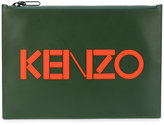 Kenzo appliquéd clutch - women - Cotton/Calf Leather/Nylon - One Size