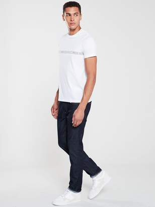 Armani Exchange Logo Hoop Print T-Shirt - White