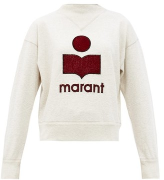 Etoile Isabel Marant Moby Embroidered-logo Cotton-blend Sweatshirt - Ivory