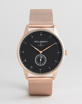 Paul Hewitt Signature Mesh Watch In Rose Gold 38mm