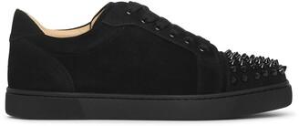 Christian Louboutin Vieira Spikes black suede sneakers