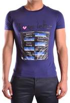 Galliano Men's Purple Cotton T-shirt.