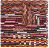 Missoni knitted patterned scarf