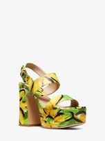 Michael Kors Blaire Daisy Leather Platform Sandal
