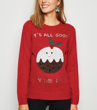 New Look Good In The Pud Christmas Jumper