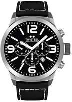 TW Steel Mens Analogue Quartz Watch with Leather Strap TWMC33