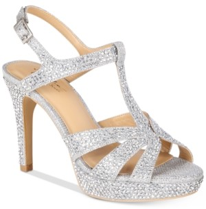 Thalia Sodi Verrda 2 Embellished Platform Dress Sandals, Created for Macy's Women's Shoes