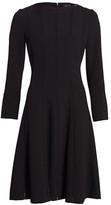 Teri Jon By Rickie Freeman Knit Fit & Flare Dress