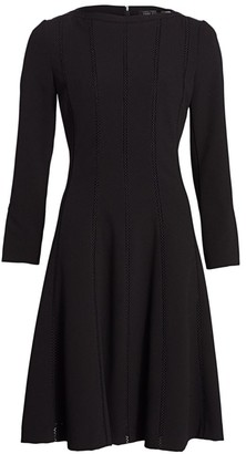 Teri Jon By Rickie Freeman Knit Fit & Flare Dress