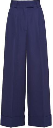 Miu Miu High Waist Gabardine Trousers