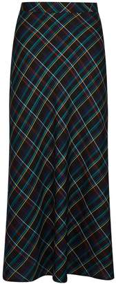 Dorothy Perkins Womens Multicolour Bias Check Midi Skirt