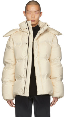 Bottega Veneta Off-White Frosted Poplin Jacket