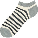 Uniqlo Men Pile Striped Short Socks