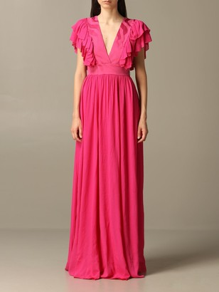 Just Cavalli Long Dress With Ruffles