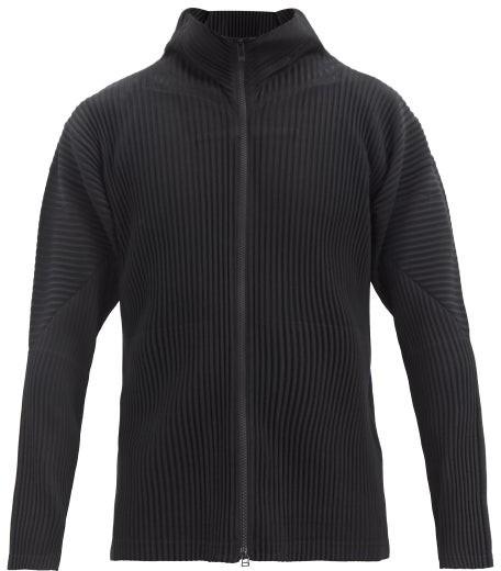 Homme Plissé Issey Miyake Zipped Pleated-jersey Jacket - Black