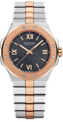 Chopard Alpine Eagle 18K Rose Gold & Stainless Steel Bracelet Watch