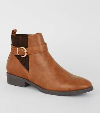 New Look Leather-Look Chelsea Boots