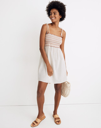 Madewell Smocked Cover-Up Mini Dress