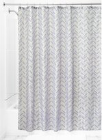 InterDesign Nora Fabric Shower Curtain, 72x72-Inch, Taupe and Lavender