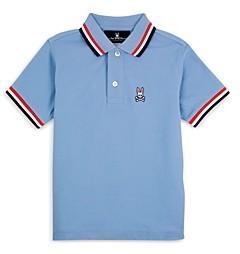 Psycho Bunny Boys' Striped Collar Polo Shirt - Little Kid, Big Kid