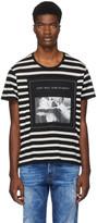 R 13 Black and White Striped Joy Division Boy T-Shirt